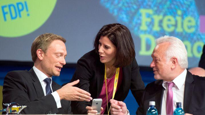 Parteichef Lindner mit Vizes Suding und Kubicki