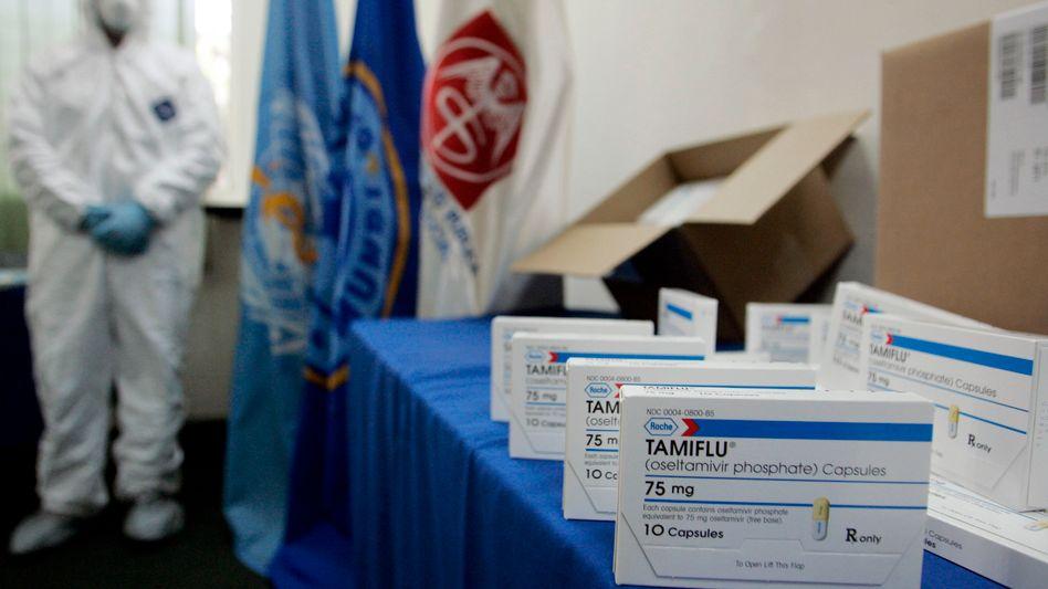 Grippemittel-Kampagne in San Salvador (Archivbild): Tamiflu wurde 2009 weltweit eingelagert