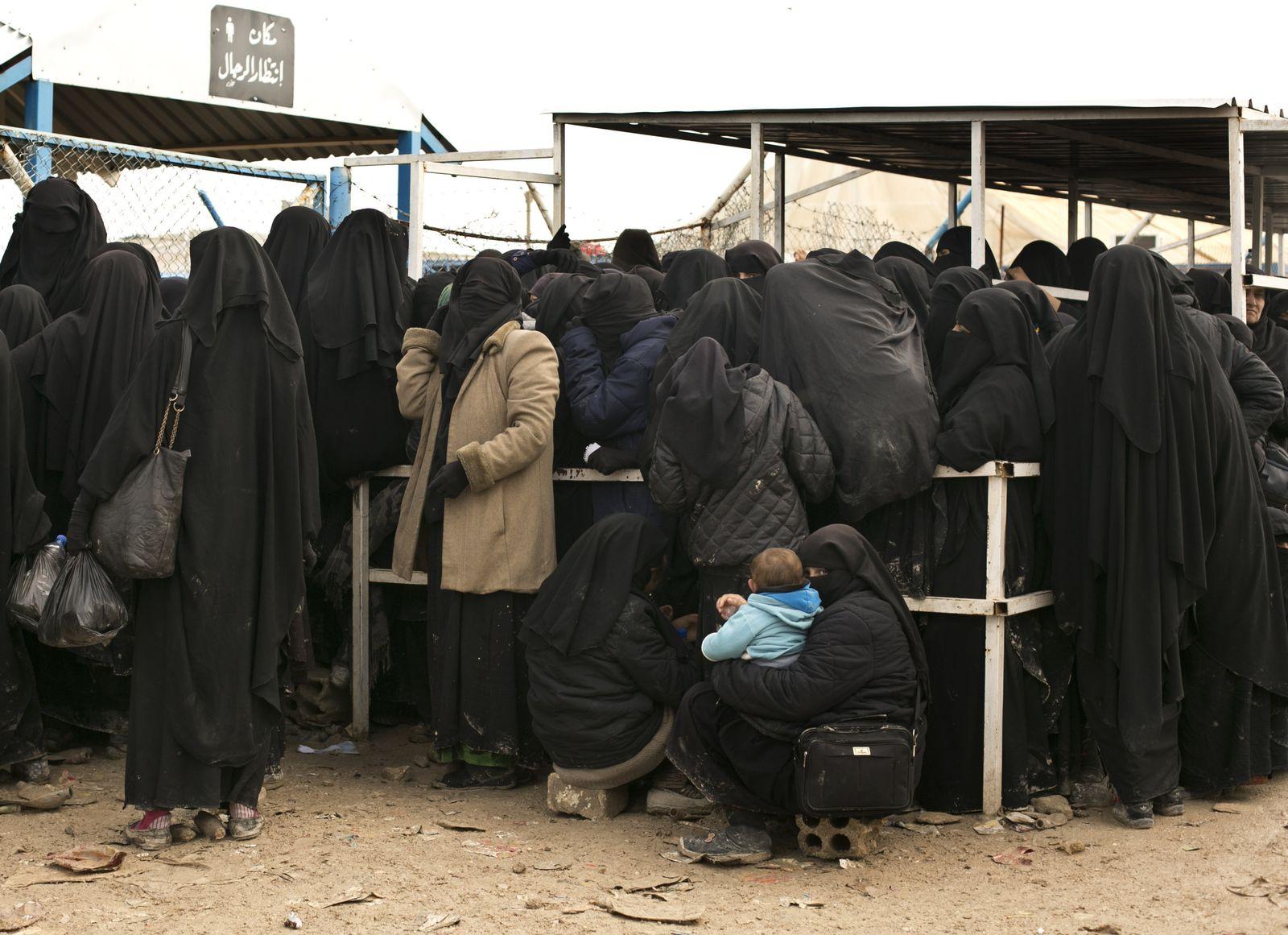 Kinder/ Familien/ IS/ Lager Al-Haul