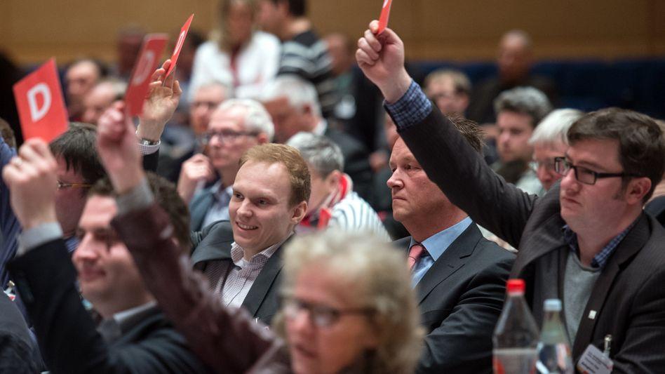 Sonderparteitag der SPD in Sachsen-Anhalt