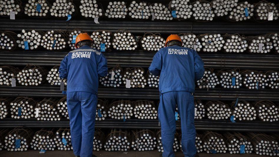 Stahlarbeiter in Changzhou