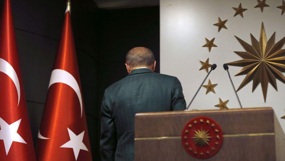 Recep Tayyip Erdogan: Er wollte es zunächst nicht wahrhaben