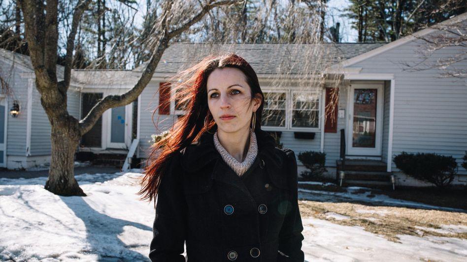 O'Leary vor ihrem Heim in Salem