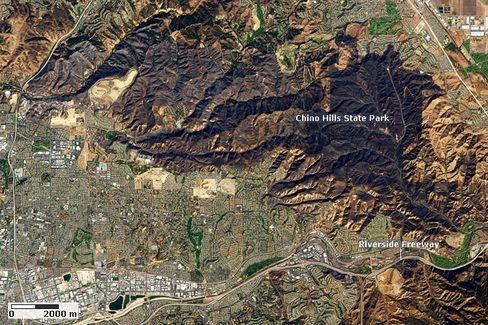 Chino Hills in Kalifornien: Geschwärzt vom Waldbrand