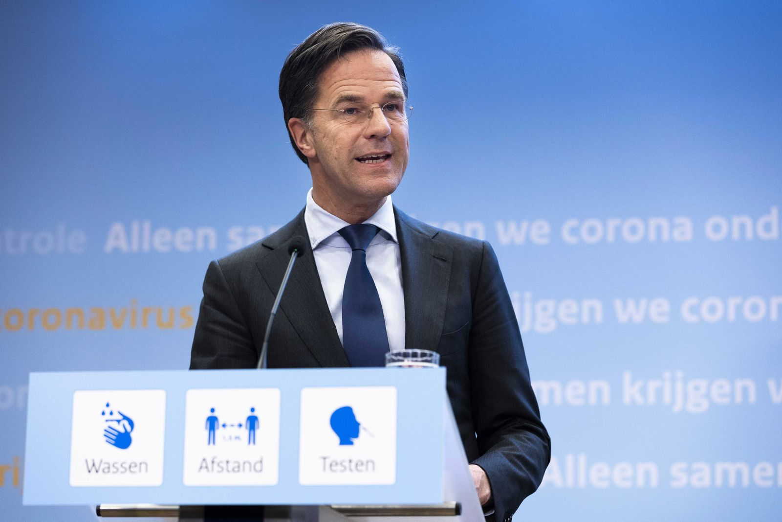 Press conference Rutte and De Jonge about covid-19