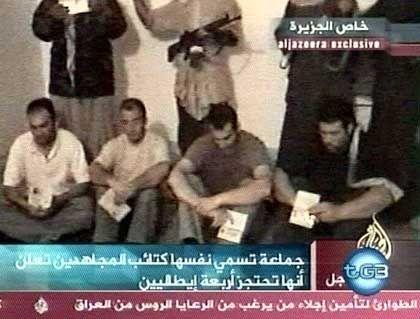 Italienische Geiseln im Irak: Die vier waren am Dienstag gekidnappt worden