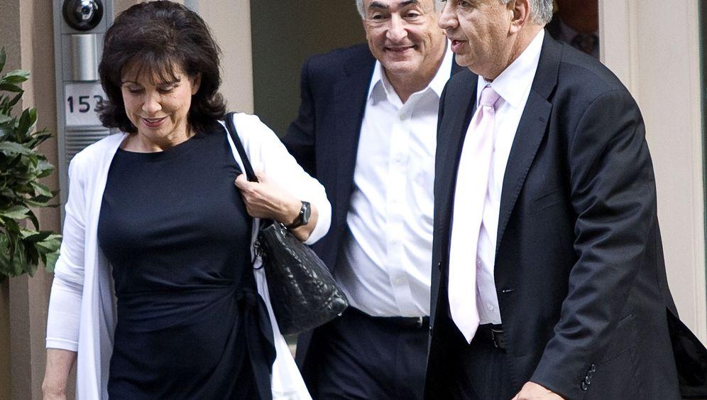 Strauss-Kahn feiert: Französische Ballons, italienisches Essen