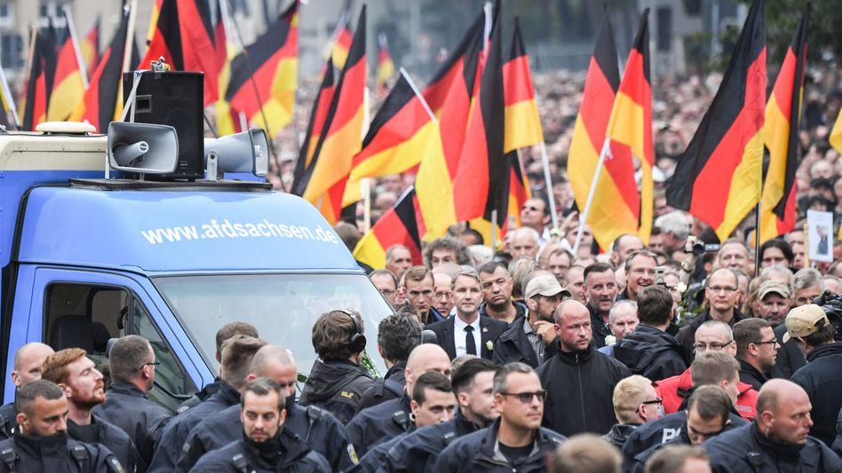 Pro-Chemnitz-Kundgebung am 1. September 2018: Bewährung nicht infrage gekommen