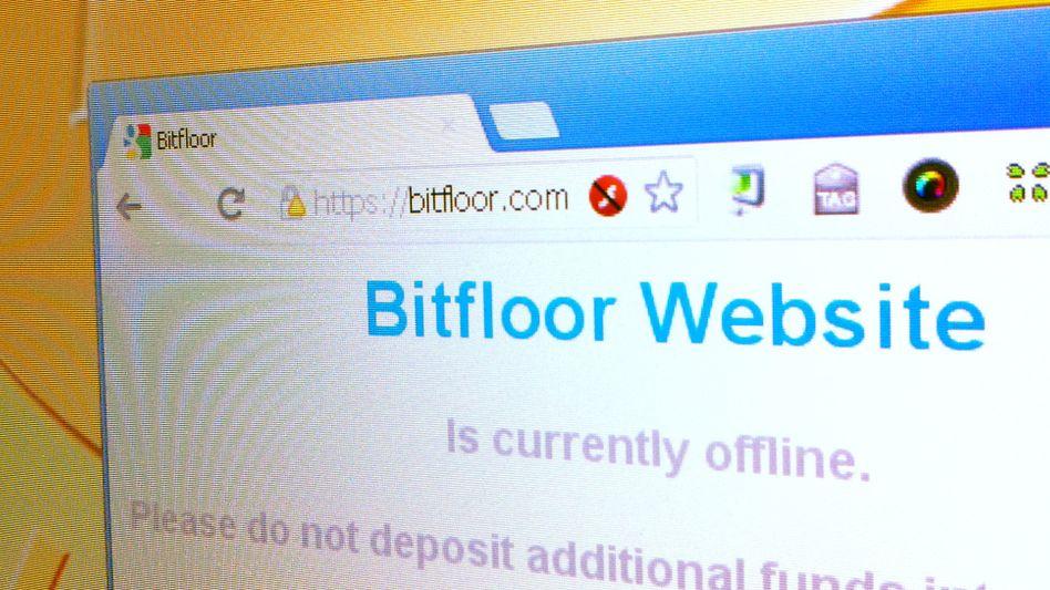 Bitfloor-Website am Mittwoch: 24.000 Einheiten der virtuellen Währung sind weg