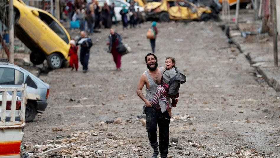 Flucht aus IS-Gebiet in Mossul (Archiv)