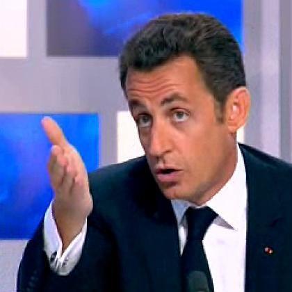 """Frankreichs Präsident Nicolas Sarkozy bei seinem TV-Interview: """"Schutz gegen die Risiken der Globalisierung"""""""