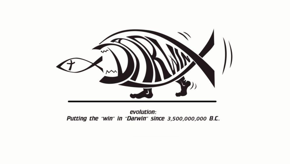 Darwinisten gegen Kreationisten: Die Sache mit dem Fisch...