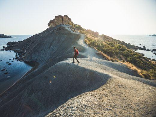 Bucht Fomm ir-Riħ auf Maltas Westseite: Wandern mit Meerblick