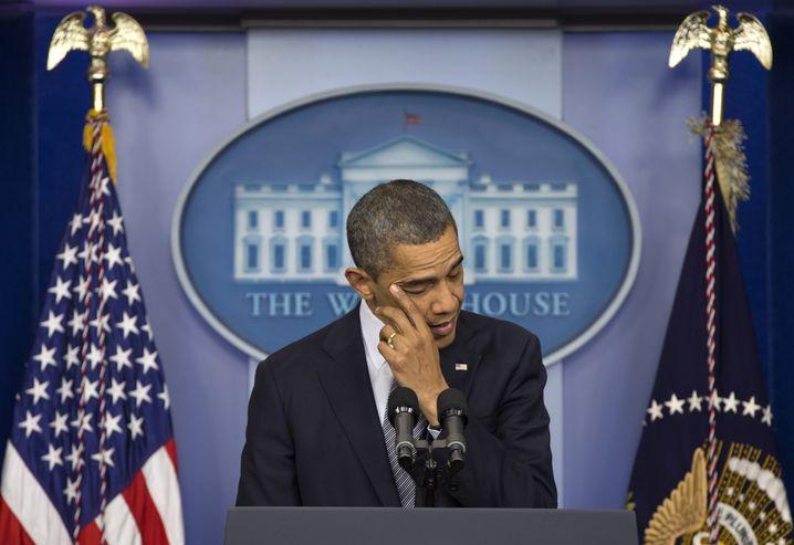 """US-Präsident Barack Obama: """"Wir werden unsere Kinder etwas fester in den Arm nehmen"""""""