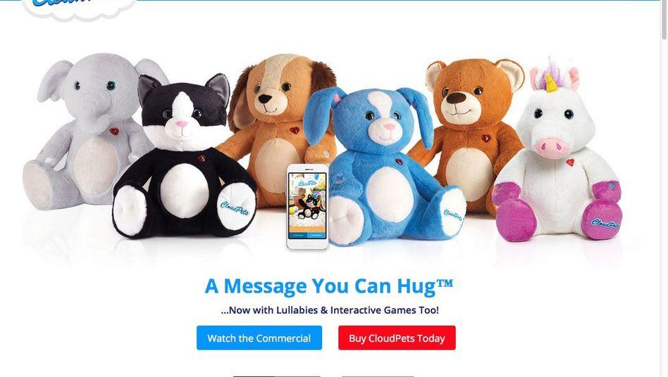 Screenshot von der Cloudpets-Webseite