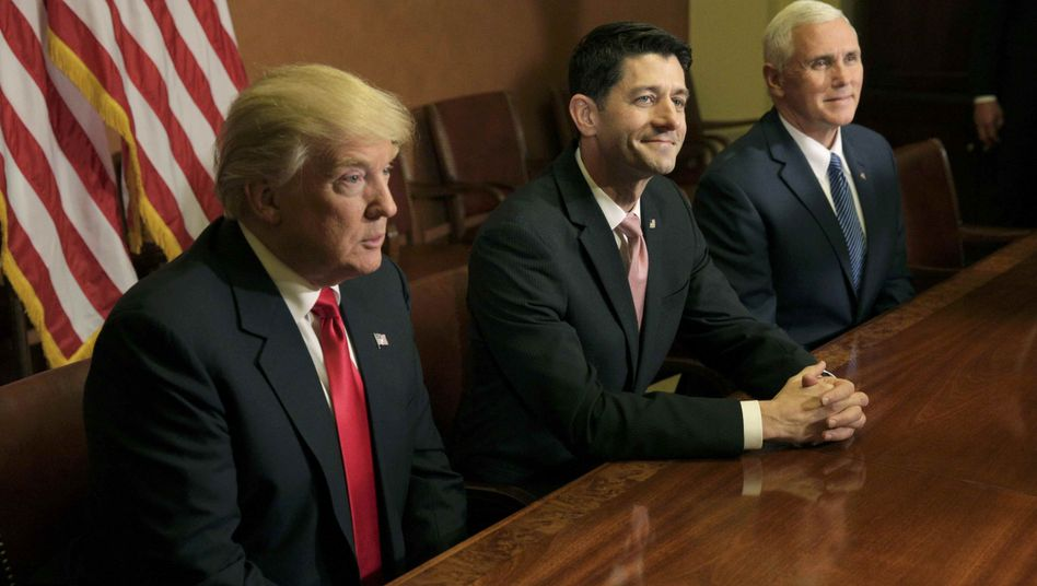 Donald Trump, Paul Ryan und Mike Pence