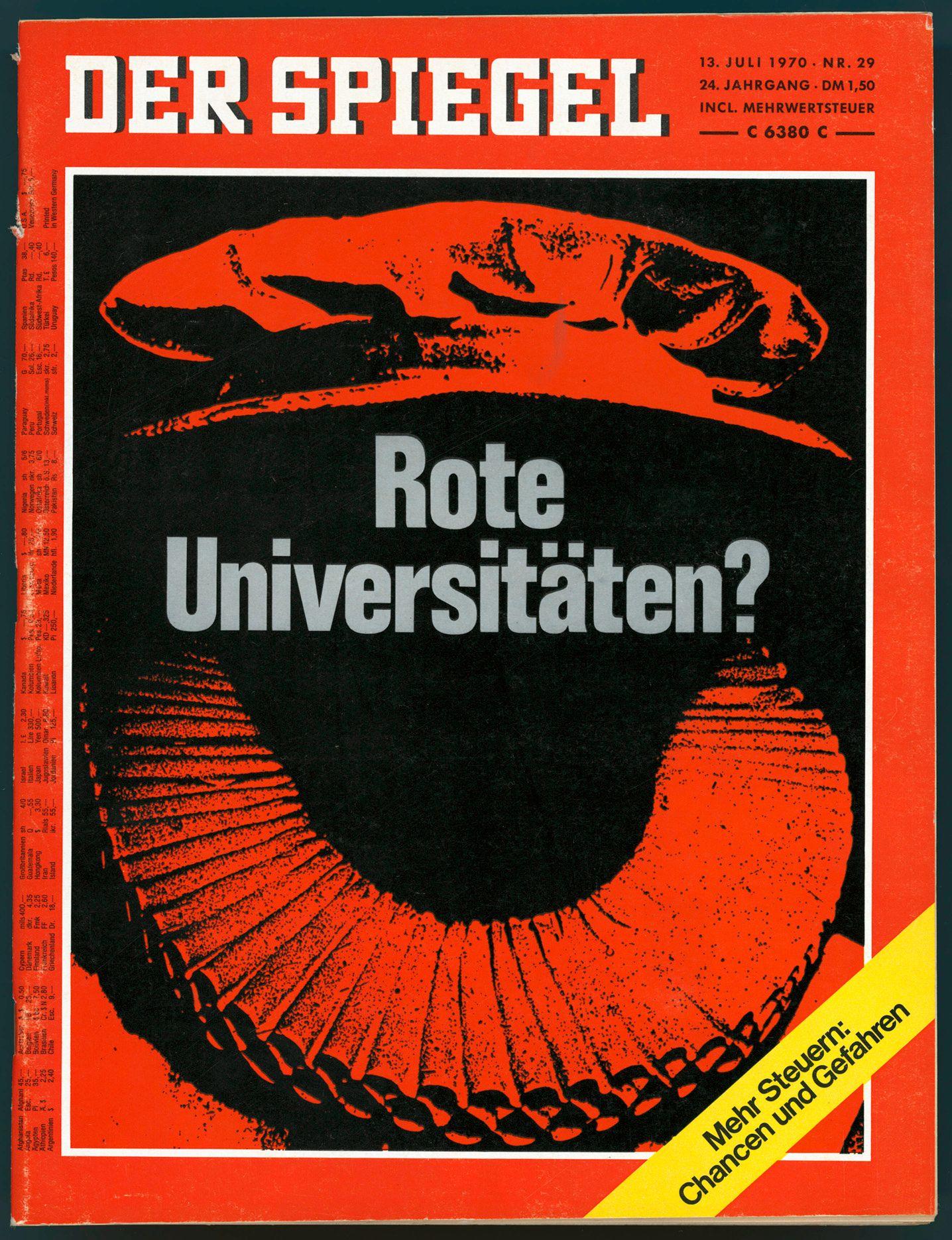 SPIEGEL-Titel 29/1970