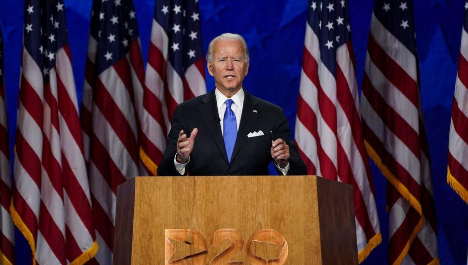 """Joe Biden (am 20. August): """"Ich werde uns gegen jede Attacke - sichtbar oder unsichtbar - verteidigen, immer, ohne Ausnahme, jedes Mal"""""""