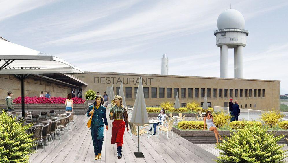 Flughafen Tempelhof: Spaziergang auf dem Dach