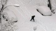 Madrid im Schneechaos