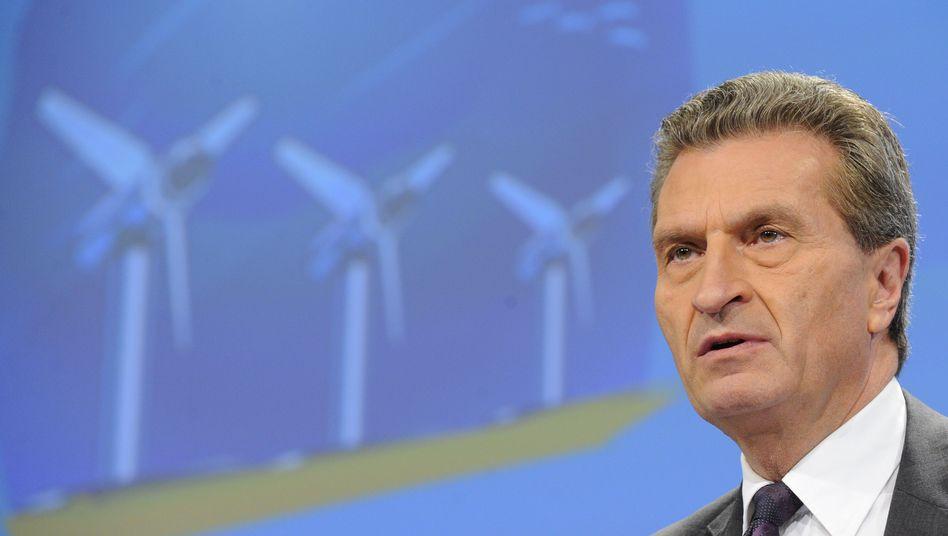"""Energiekommissar Oettinger: Leitungen seien """"notwendig - und zwar schnell"""""""