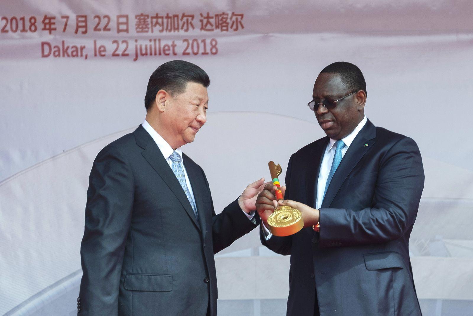 Afrika/ Merkel/ Jinping/ Sall