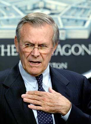 """Donald Rumsfeld: """"So sammelt man keine Punkte bei uns"""""""
