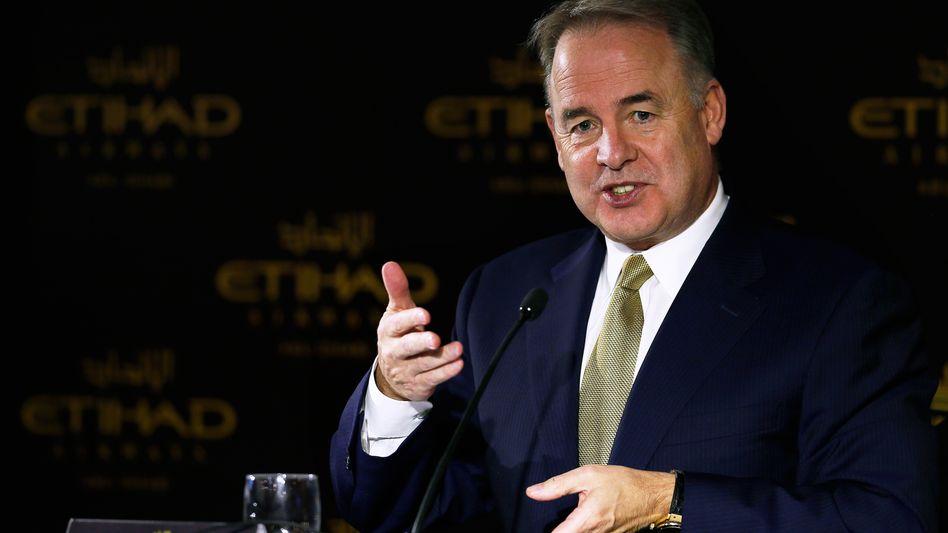Viel Lob für die Wahlheimat: Etihad Chef James Hogan in Abu Dhabi