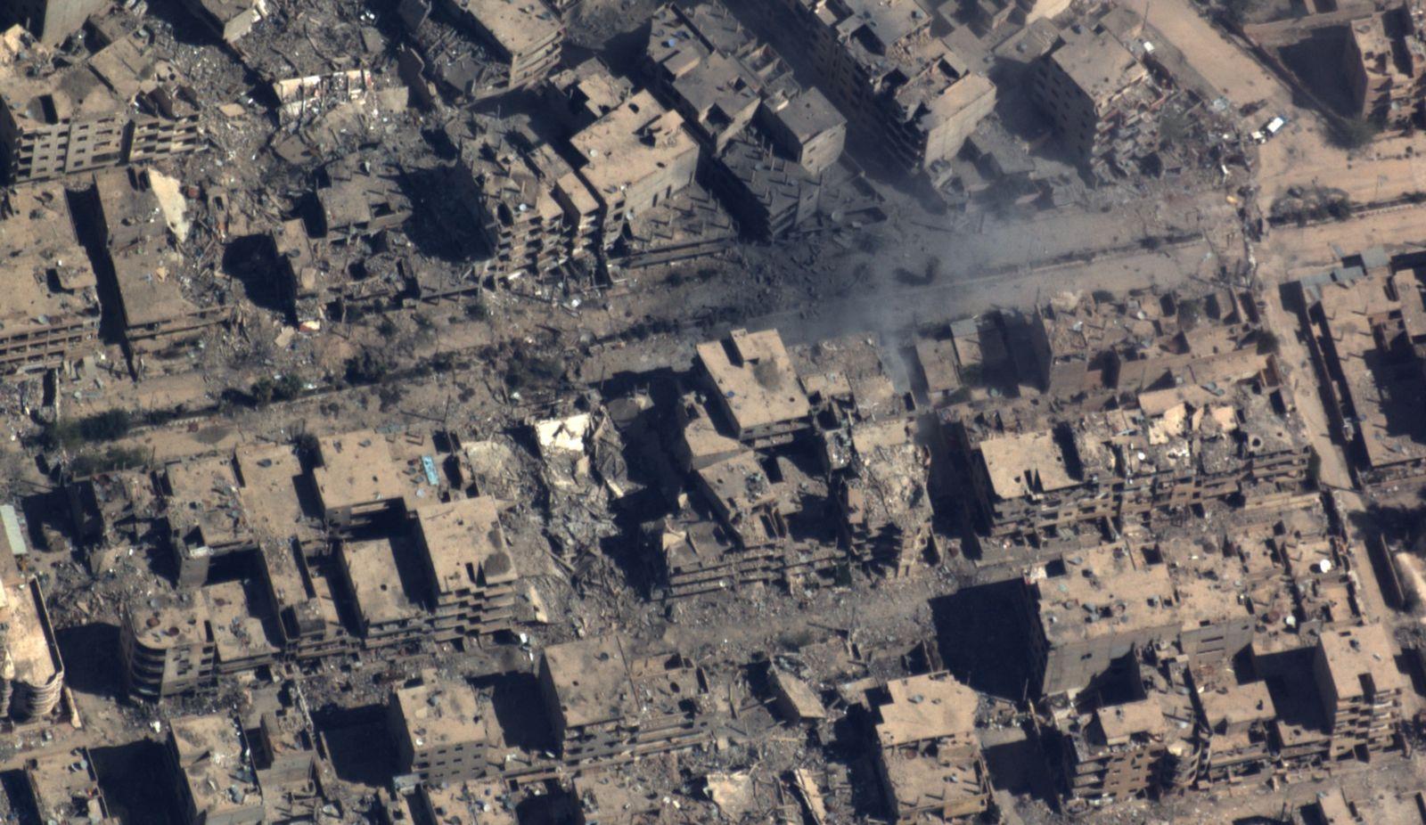EINMALIGE VERWENDUNG Syrien/ DAYR EZ ZAWR/ Aufklärungsbild