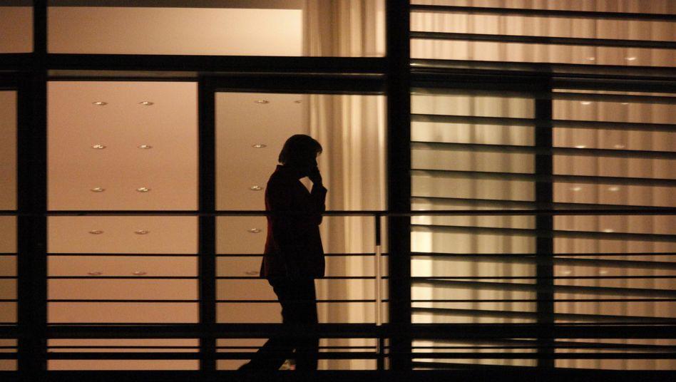 Angela Merkel auf dem Balkon des Kanzleramtes: Das Tun hat sie nie geliefert