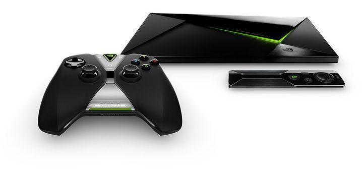Nvidia Shield Android TV - die kleine Fernbedienung kostet extra.