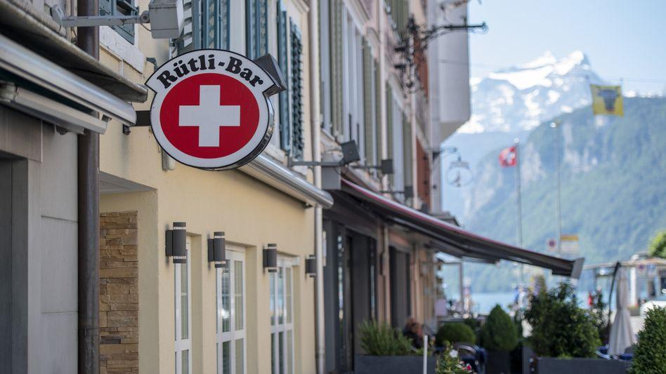 Der OrtBrunnen im Schweizer Kanton Schwyz