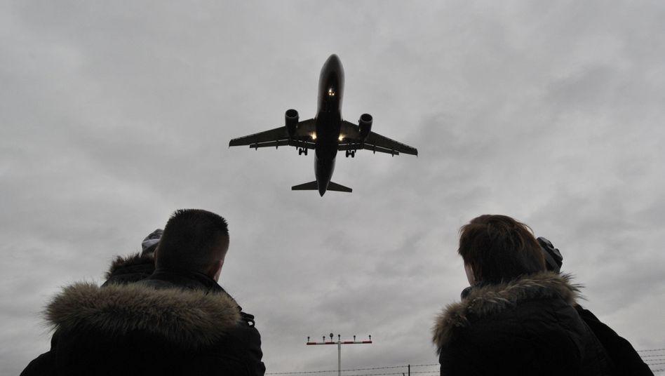 Landung am Flughafen Frankfurt (Archivbild)