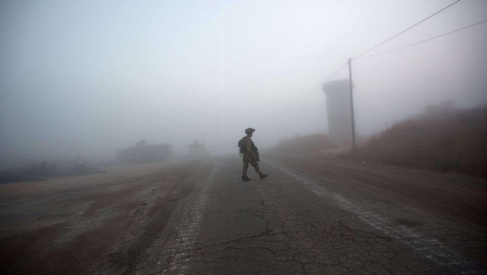 Schwere Mission: Israelischer Soldat auf den Golan-Höhen