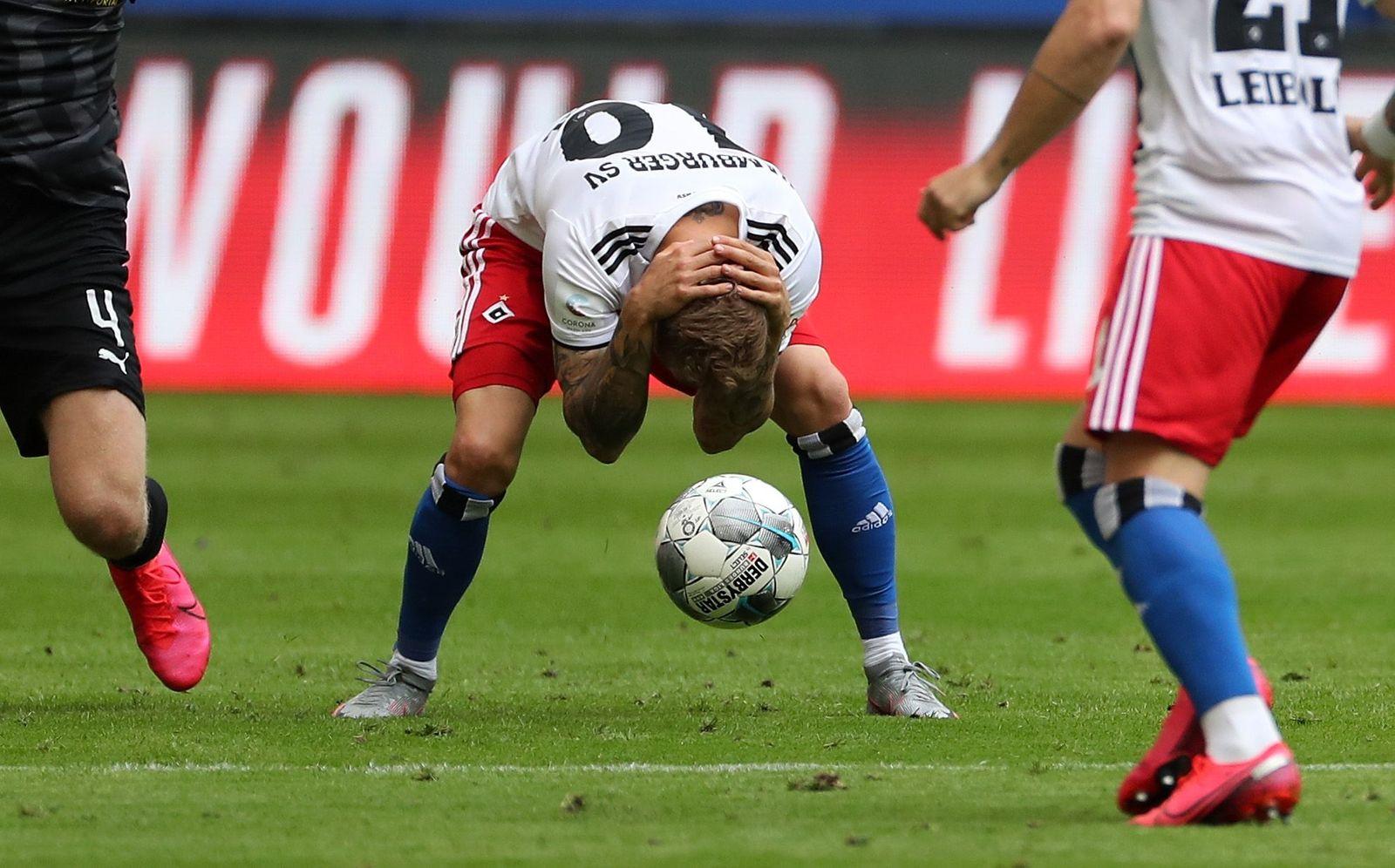 Hamburger SV vs SV Sandhausen, Hamburg, Germany - 28 Jun 2020