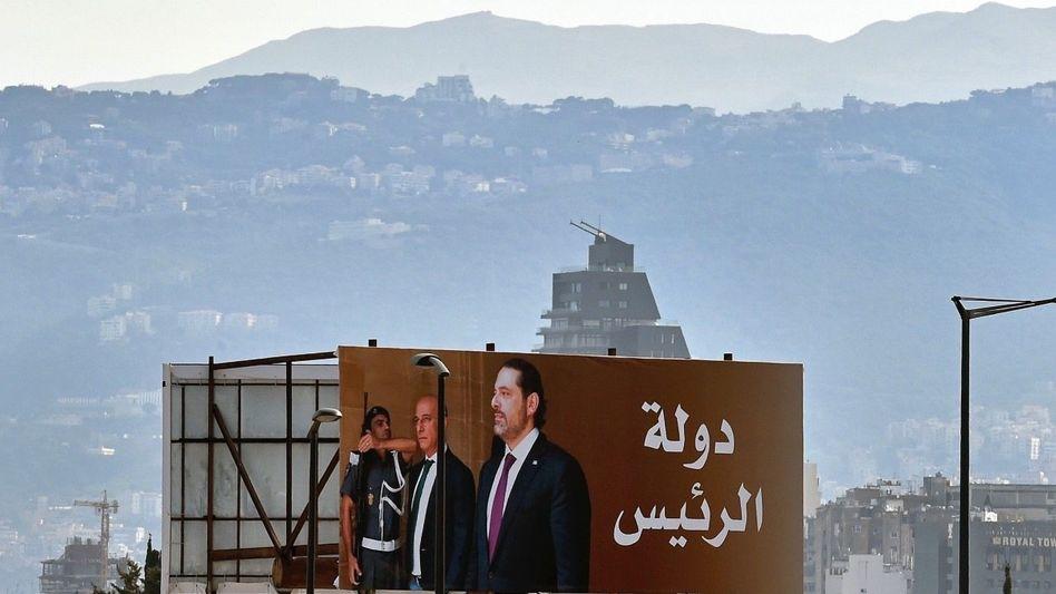 Hariri-Plakat in Beirut: Ein Staat, in dem nichts zusammenpasst und der doch irgendwie funktioniert