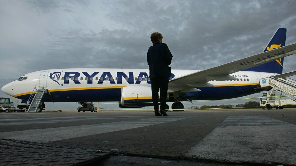Ryanair-Flugzeug (Archivbild): Nächtlicher Protest in der Kabine