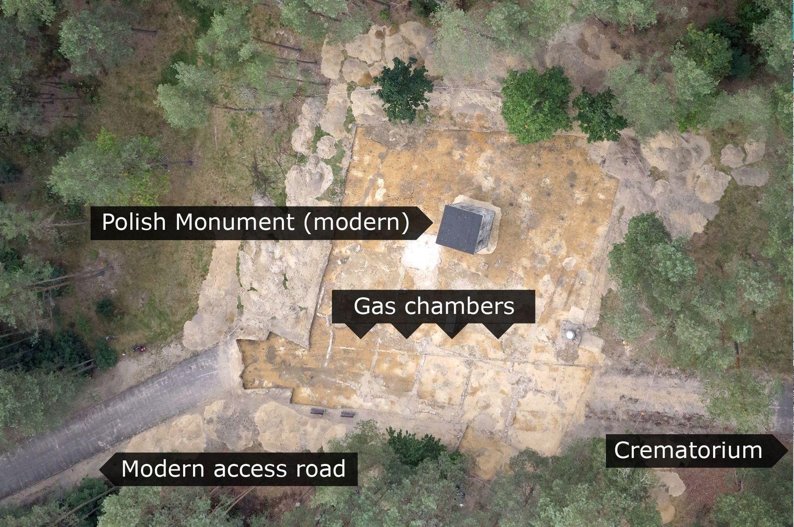 EINMALIGE VERWENDUNG Sobibor/ Vernichtungslager/ Ausgrabungsarbeiten