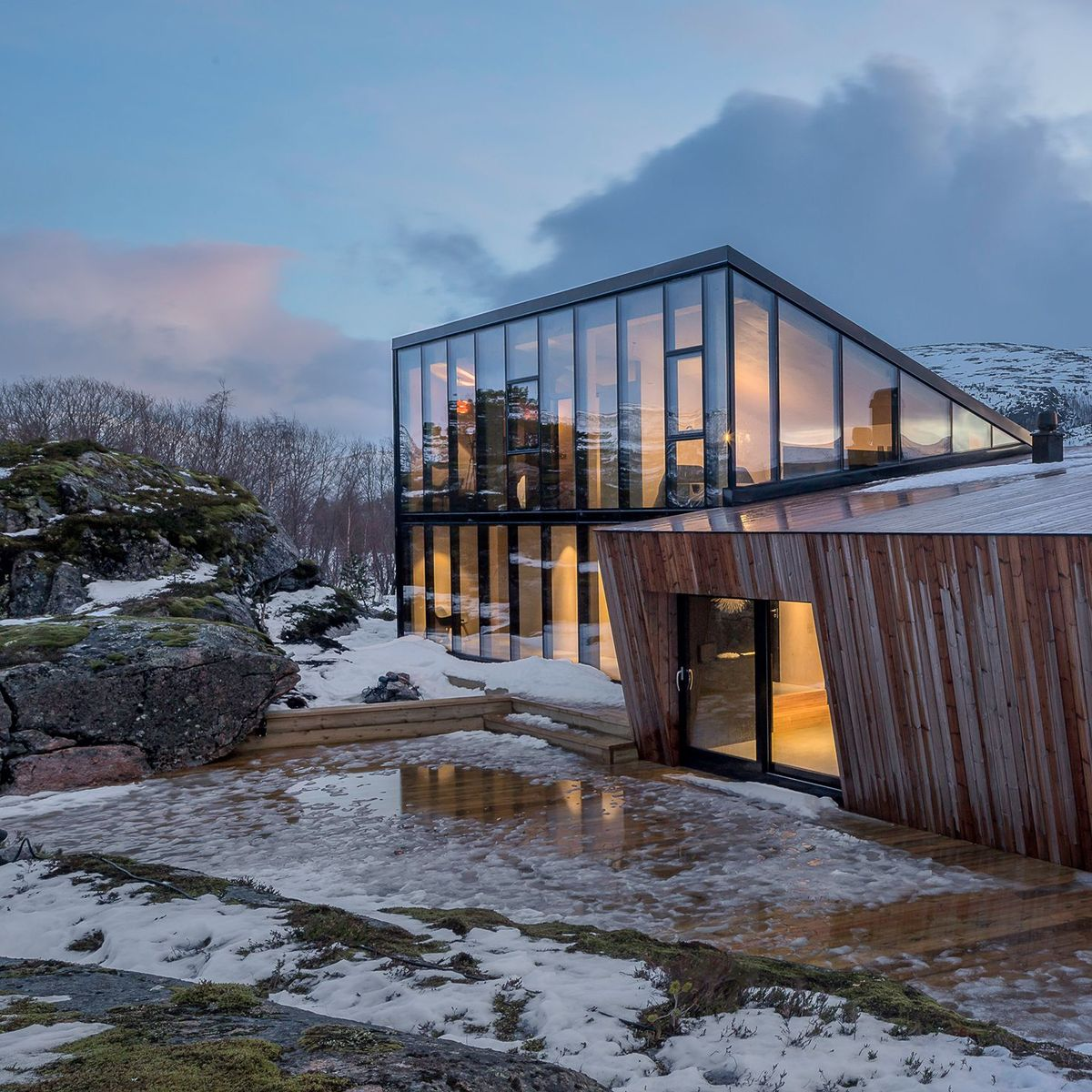 Ferienhaus am Efjord in Norwegen: Komfjordtabel