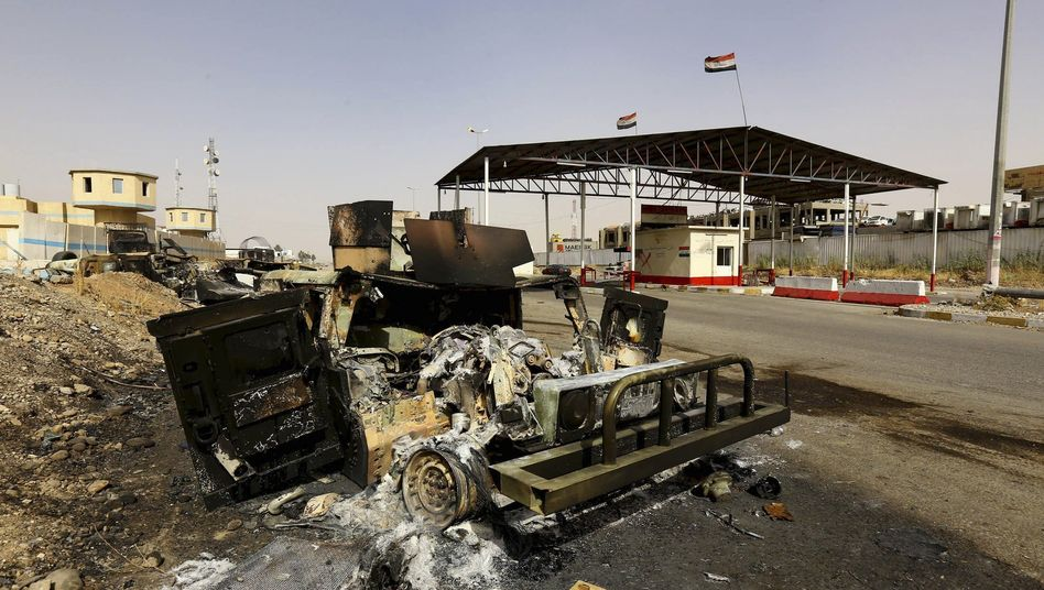 Verlassener Checkpoint östlich von Mossul: Dschihadisten erobern Stadt für Stadt