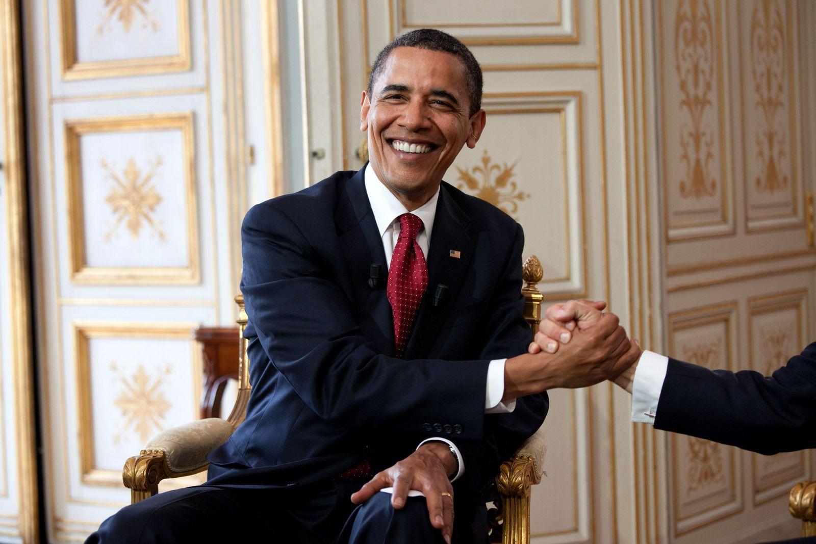 Obama/ Sarkozy-Hand
