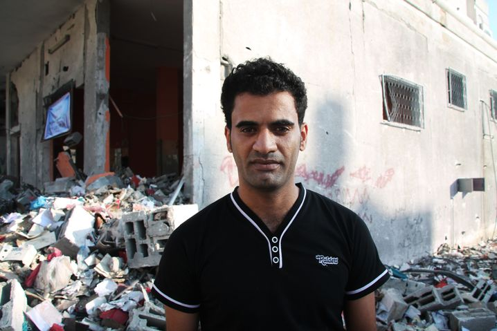 Der Palästinenser Abu Yazan, 27, studiert Englisch und Sozialkunde in Jena