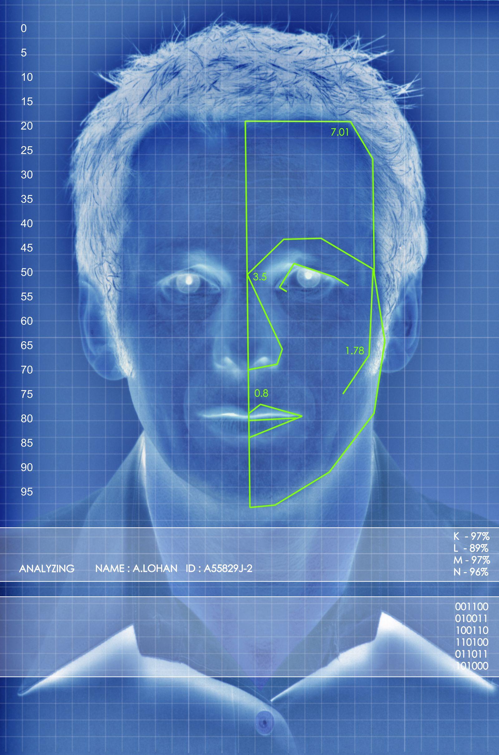NICHT MEHR VERWENDEN! - Symbolbild Face Recognition/ Gesichtserkennung