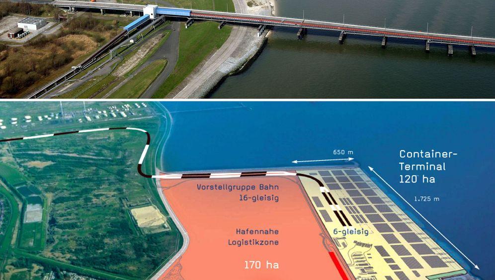 Steuermillionen für Hafen-Prestigeprojekt: Die Kräne gammeln an der Jade