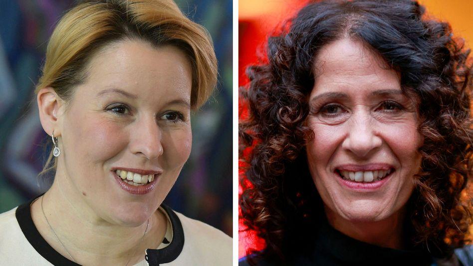 Franziska Giffey (l.) und Bettina Jarasch