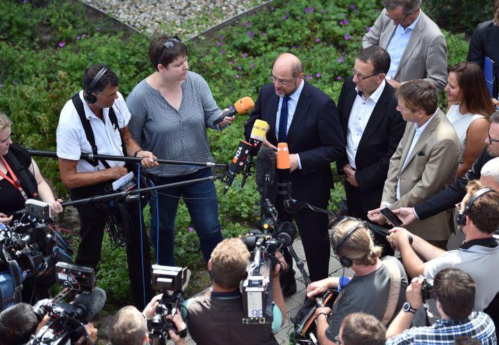 Merkel-Konkurrent Schulz im Wahlkampf
