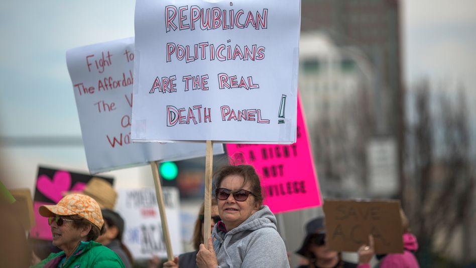 Demonstranten in den USA