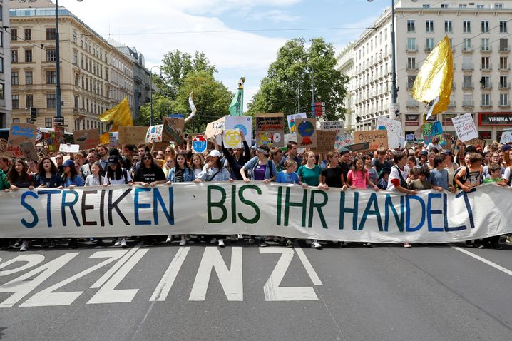 Klima-Demo in Wien am 31. Mai.
