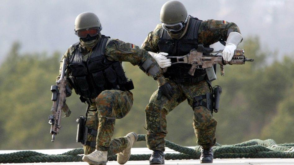 Soldaten der KSK bei einer Übung