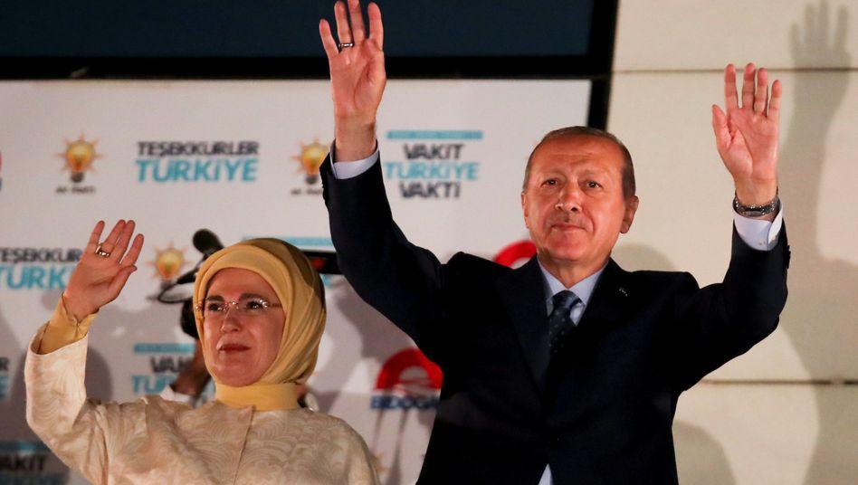 Ehepaar Erdogan in Ankara
